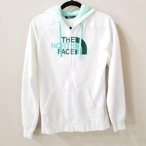 The North Face | White full zip hoodie sweatshirt
